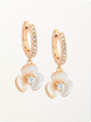 Mother-Of-Pearl & 14K Yellow Golplated Floral Earrings