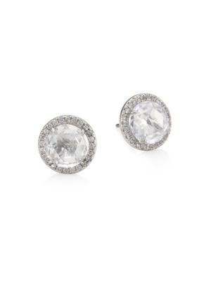 Bright Ideas Crystal Pavé Halo Stud Earrings