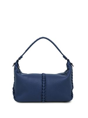 Textured Leather Shoulder Bag