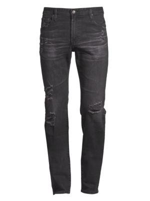 Tellis Modern Slim-Fit Distressed Jeans