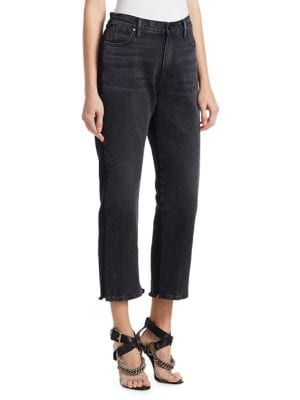 Terry Cropped Jeans