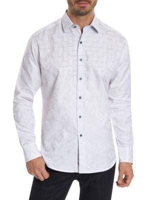 Geometric Casual Button-Down Shirt
