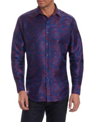 Paisley Pattern Dress Shirt