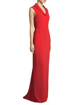 Cowlneck Floor-Length Gown