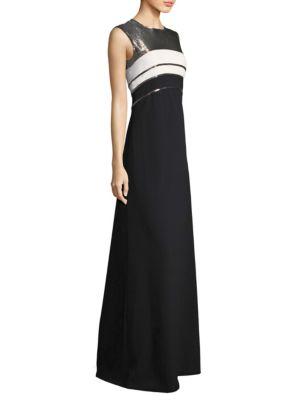 Bicolor Floor-Length Gown