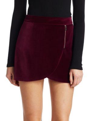 Lennon Velvet Mini Skirt