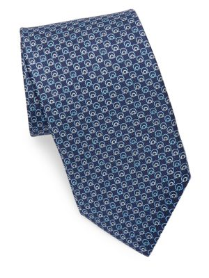 Silk Concentric Gancini Tie