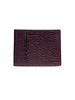 Textured Leather Bi-Fold Wallet