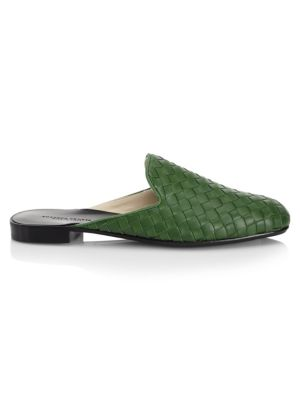 Bottega Veneta Intrecciato Leather Woven Slides GWgsC