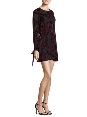 Burnout Silk Mini Dress