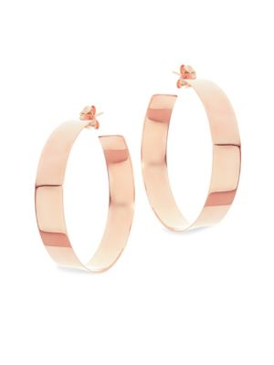 Medium 14K Rose Gold Vanity Hoops