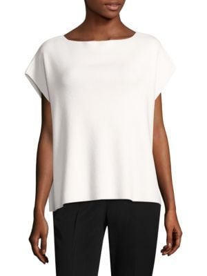 Ribbed Cashmere Top