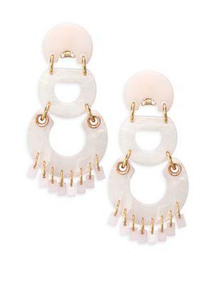 Pinata Rose Quartz Chandelier Earrings