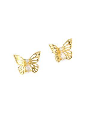 Social Butterfly Stud Earrings