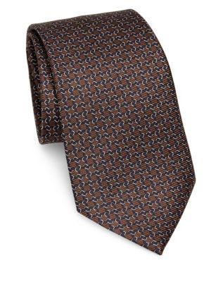 Silk Links-Print Tie
