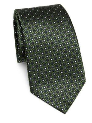 Silk Floral-Print Tie