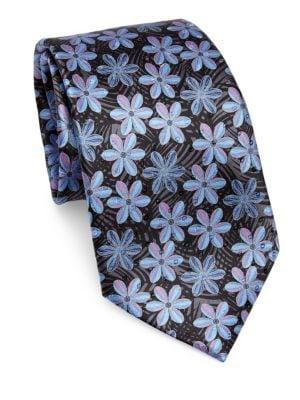 Silk Macro Floral Tie