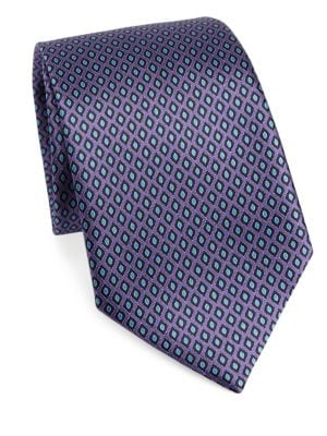 Diamond Print Silk Tie