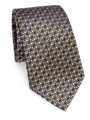 Silk Diamond-Print Tie