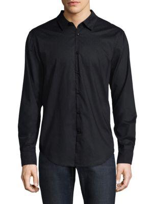 Cotton Polka-Dot Button-Down Shirt