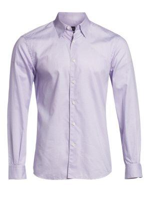 Mini Dot Print Button Down Shirt