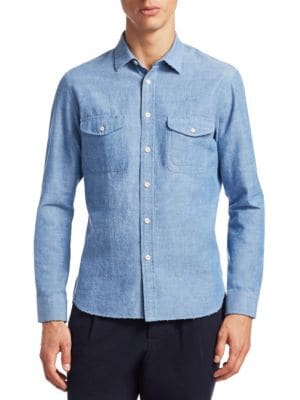 Bramley Cotton Button-Down Shirt