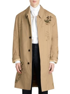 Honey Sketch Cotton Coat