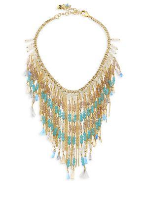 Risveglio Multicolor Quartz Tassel Necklace