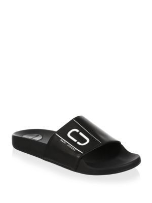 MARC BY MARC JACOBS BLACK LEATHER COOPER SPORT SLIDE