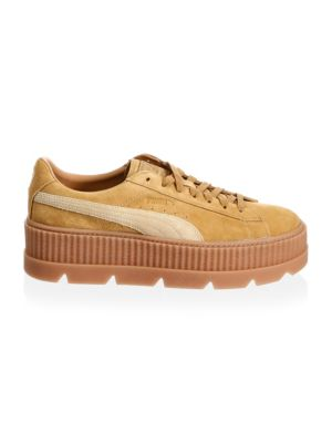 Men's Suede Cleated Creeper Low-Top Sneakers