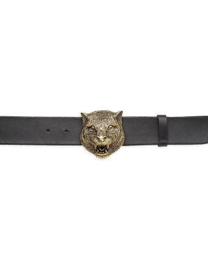 Tiger Head Leather Belt