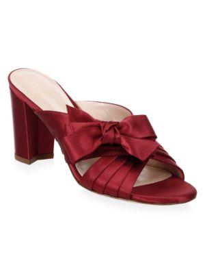 1b94e40bed4 Ribbon Satin Sandals, Ruby