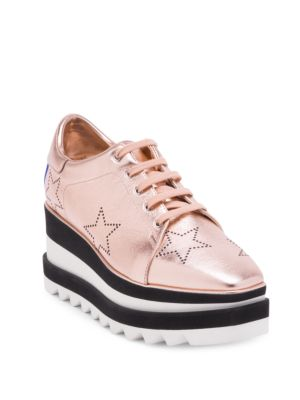 Elyse Rose Gold Star Sneaker Wedges