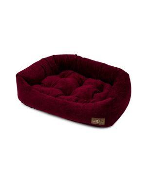 Henna Velour Napper Dog Bed