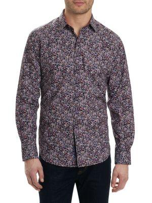 Regular-Fit Paisley Button-Down Shirt