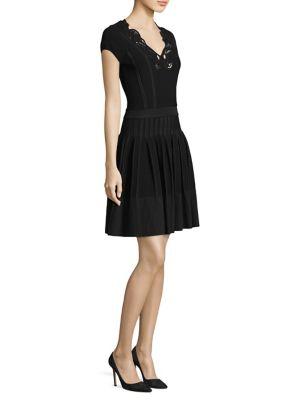Cap-Sleeve Fit-&-Flare Dress