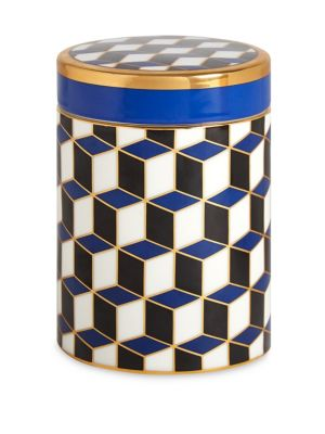 Porcelain Geometric Canister