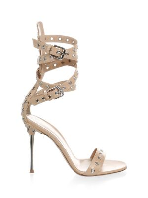 Grommet Leather Strap Sandal