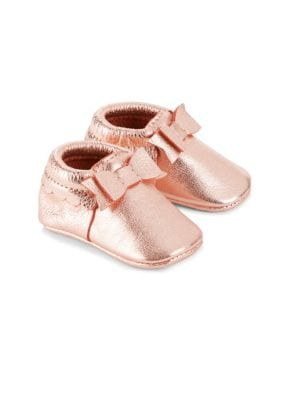 Baby's Bow Leather Moccasin
