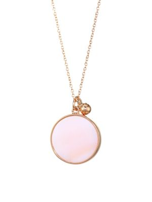 Ever Pink 18K Rose Gold & Mother-Of-Pearl Pendant Necklace