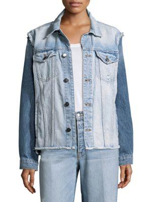 Reconstructed Frayed Denim Jacket