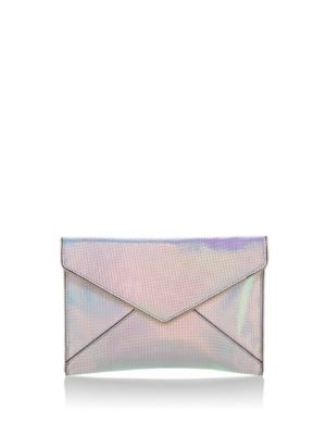 Leather Leo Envelope Clutch