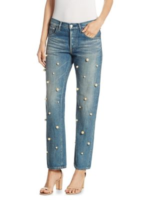 Big Pearl Cotton Jeans