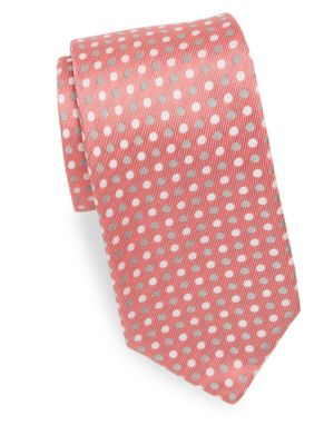Three-Tone Polka Dot Silk Tie