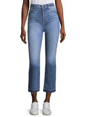 Edie Kick Flare Shadow Hem Jeans