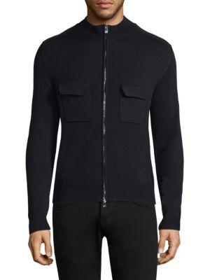 Ribbed Full-Zip Sweater