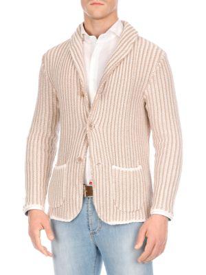 Stripe Buttoned Cardigan