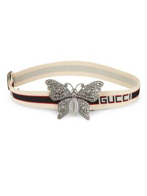 Pave Butterfly Logo Belt