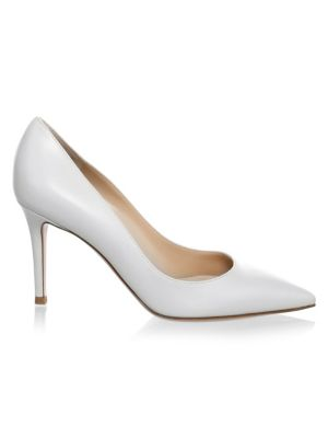 GIANVITO ROSSI | Point Toe Leather Pumps | Goxip