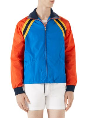 Nylon Jacket With Tiger Patch